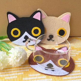 Meow cat coaster - head
