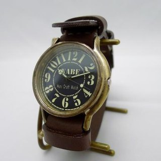 "Handmade watch HandCraftWatch ""JB"" JUMBO Brass NATO belt BR [JUM31]"