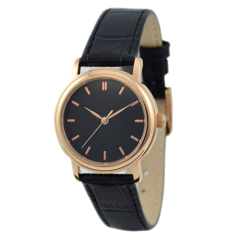 Women's Rose Gold 13 nails black surface - Women Watches - Global Free Shipping