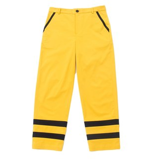 Sevenfold - Color matching stitching pant hit color stitching trousers (yellow)