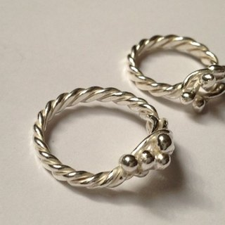Drops of silver beads twist cannabis rings ~ girl's sweet ring, Christmas gifts, happiness!