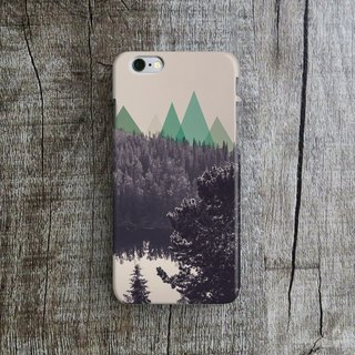 Mountain Forest - Designer iPhone Case. Pattern iPhone Case.