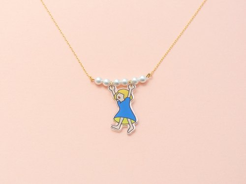 Hanging girl Necklace