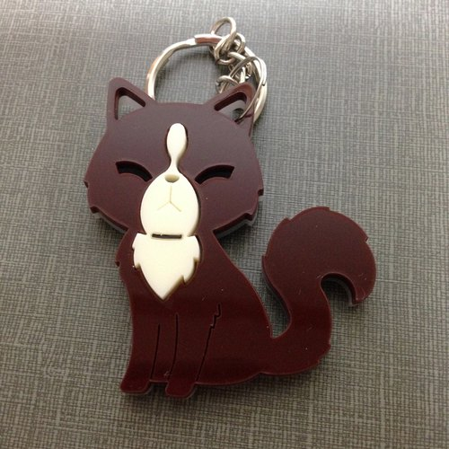 I love the zoo - Luwak beige acrylic key ring