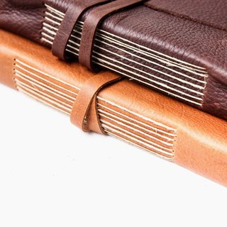 Handmade Leather Journal w/Amalfi Paper (style E) - Manufactus