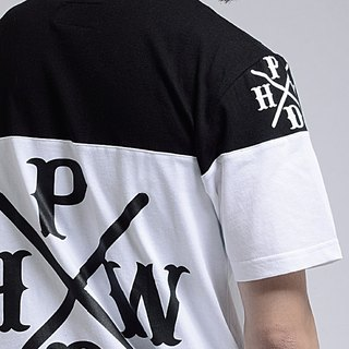 HWPD│ large printing stitching T-Shirt white (refer Kanye West / Yeezy / Justin Bieber)