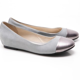[Saint Landry] LAND metal stitching design Ballet shoes (gray)