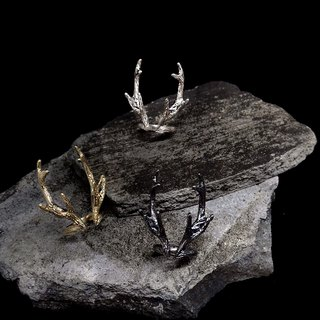 ▽-Rudolph-▽-925 sliver Ring / antlers /christmas day