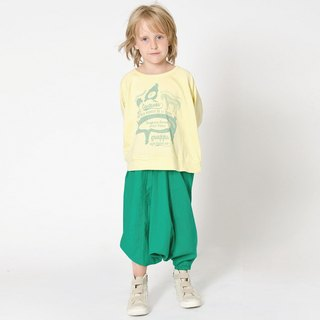 [Design] Sweden Nordic organic cotton harem pants Kids Bollywood _ grass green for 2Y-14YShampoodle Kids