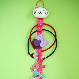 Children's hair accessories storage tape / wall decoration (kitten) Limited hand-made
