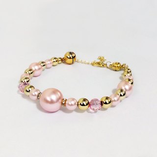 Ella Wang Design jewelry pearl necklace - pink cat collar pet collar necklace handmade fashion