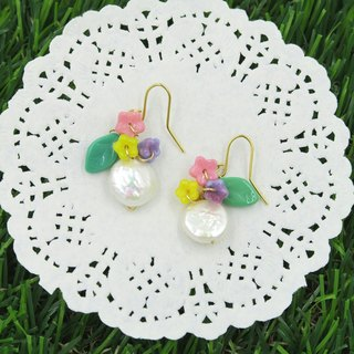 Shell flower children (hypoallergenic) earrings