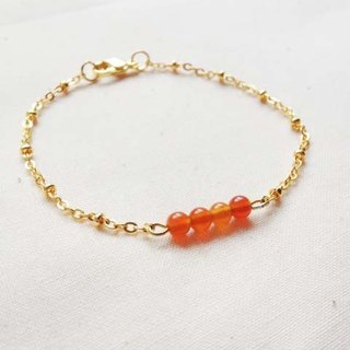﹉karbitrary﹉ ▲ ---⊕--- orange agate crystal point K gold bracelet
