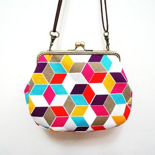 Geometry encounter mouth gold bag / camera bag / cosmetic bag / sundries / large capacity