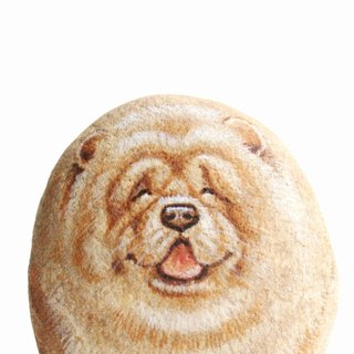 Chow Chow Stone painting