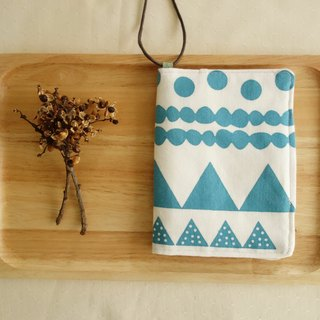 Kyoto fabric Passport Holder - HIKING