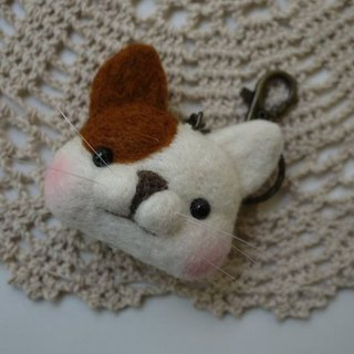 (Sheep wool felt music and more park) Peng leather strap cat