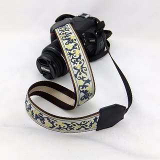 Camera strap can print personalized custom leather stitching embroidery pattern porcelain national air 027