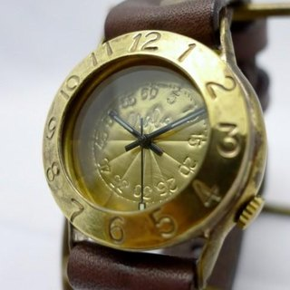 "Handmade watch HandCraftWatch ""Explorer2-B"" Brass GD / BR [275]"
