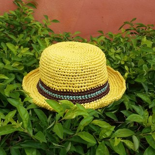 Child's straw hat - yellow