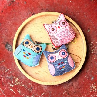 (Pure cotton bag) Charm small things [w268_30 Little Owl - Kits]