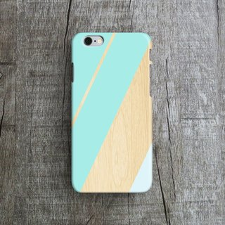 Blue Stripes, Wood - Designer iPhone Case. Pattern iPhone Case. One Little Forest