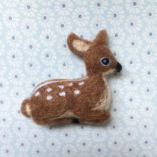 Small sika - hand-made wool felt pins