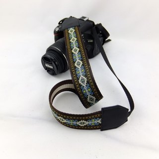 Camera strap can print personalized custom leather stitching national wind embroidery pattern 012