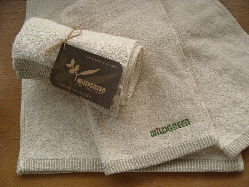 Smelt green organic cotton sports towel (extended)