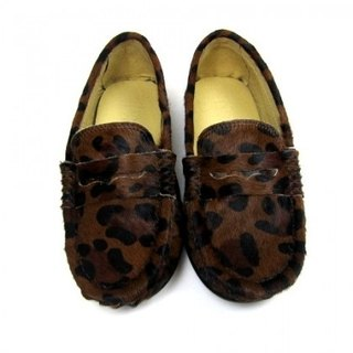 Fort Tony Wang [soled shoes handmade leather leopard / brown]