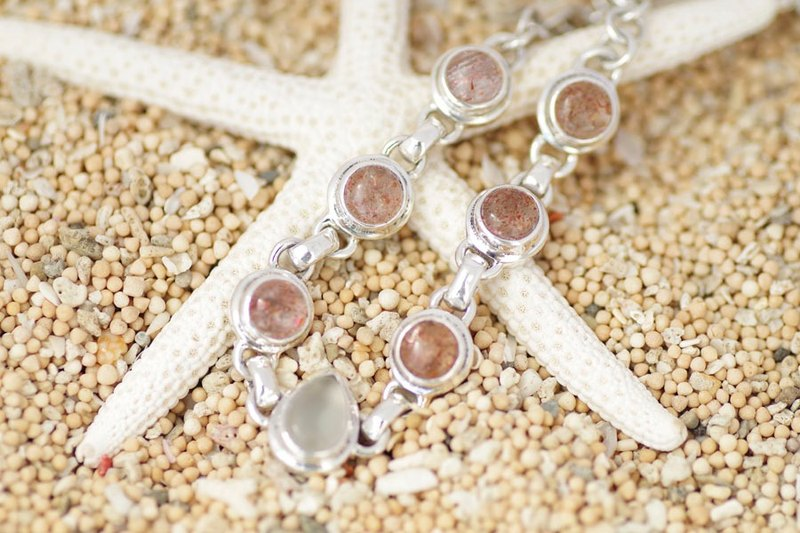 Bracelet full of sun and moon power Sunstone and Moonstone's silver bracelet