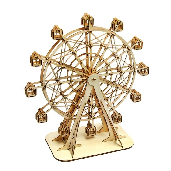 Jigzle® 3D three-dimensional jigsaw puzzle series | Wooden Puzzle Ferris Wheel | super healing