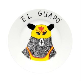 EL guapo bone china plate | Jimbobart