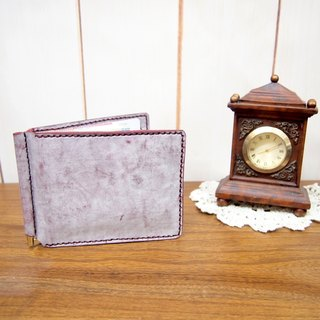 Hand-stitched leather note holder with red wine color (Red Wine Color)