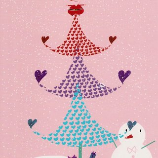 Heart leaf of Christmas tree-Postcard
