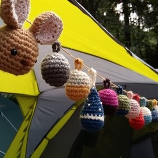 Amigurumi crochet: Camping ball, Colorful woolen ball, Pom Pom Garland,