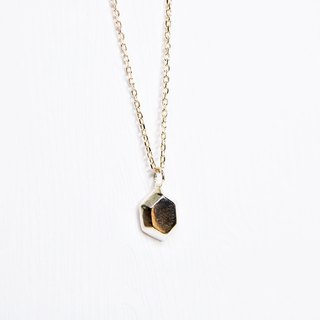 Ermao Silver [Hexagon Silver Gem Sterling Silver Necklace]