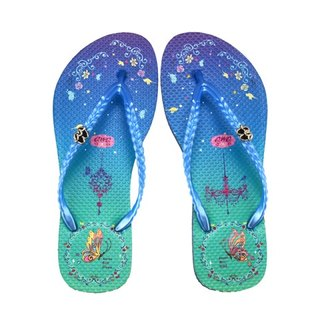 QWQ Creative Design Flip-Flops (No Drills) - Sky Garden - Blue [FAN0161504]