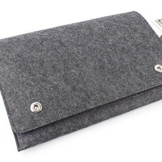 "Original handmade dark gray blankets Apple computer protective cover blankets Macbook 12 inch laptop bag computer bag Macbook 12 ""(can be tailored) - ZMY034DG12A"
