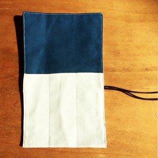 Three-piece cutlery pouch blue double rope