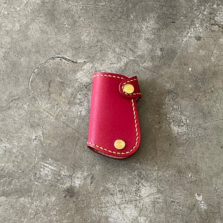 [Mini5] hand-stitched car key bag / Vespa brand key (red)