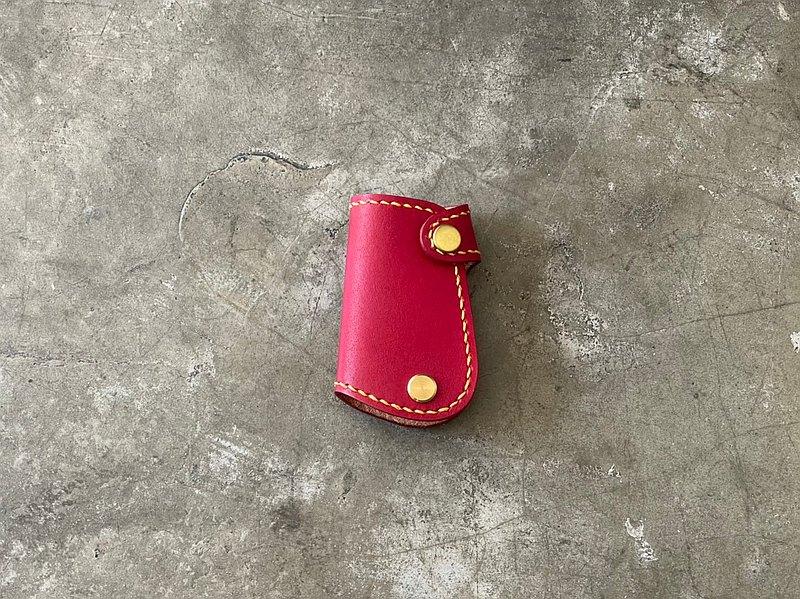 【Mini5】手工縫線汽車鑰匙包/偉士牌鑰匙(紅)