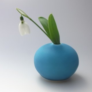 drop#1 turquoise (porcelain small bud vase)