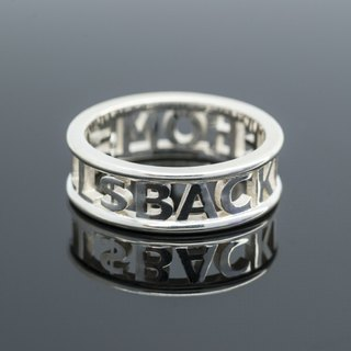 Customized Initial Ring Ring simple round frame Wide