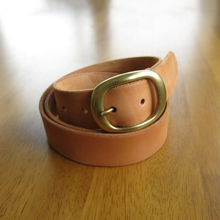 3.5cm wide medium version of the Japanese word belt _ multi-fat vegetable tanned leather production [Jane One Piece]