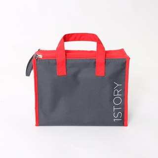 Cooler Bag (small). Red dark gray ╳