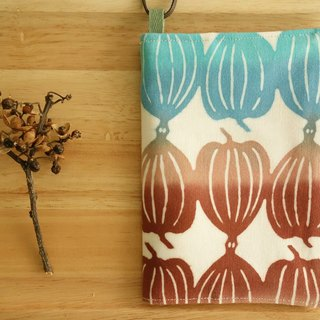 Kyoto fabric Passport Holder - Cape gooseberry