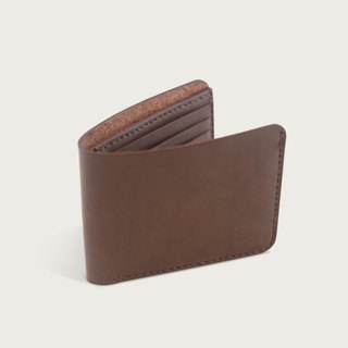 Classic eight-card wallet / short clip / wallet -- deep coffee