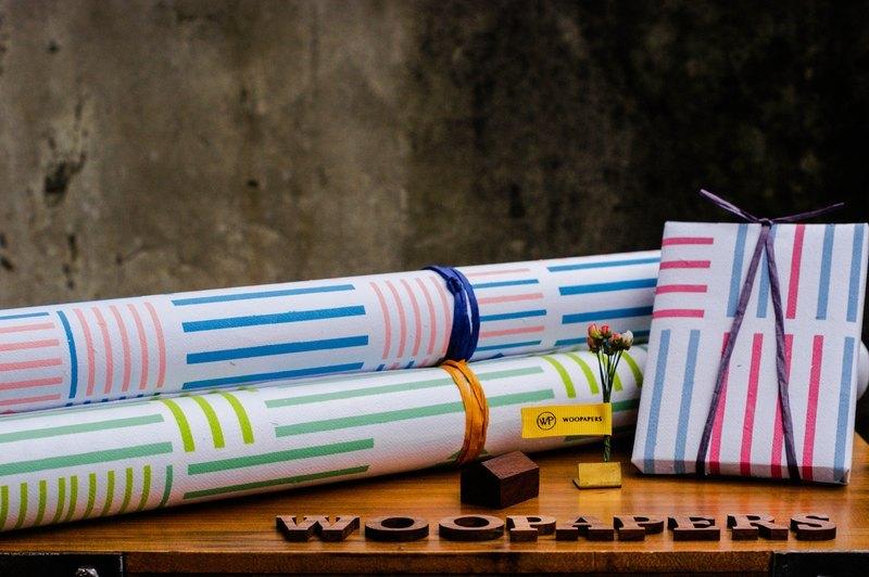 手工包裝紙 - 有線小日系 (55cm x 77cm)