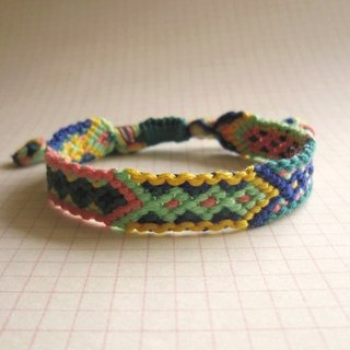 Small train lucky rope woven bracelet (optional color)